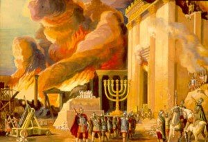 Destruction of the Temple.  The Arch of Titus in Rome depicts the sacking of the Temple.