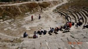 A Roman amphitheater built by King Herod at Samaria.