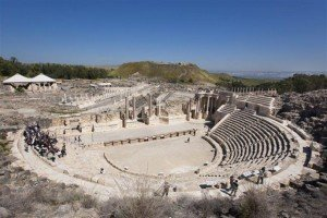 "Beit She'an ampitheatre, site of many gory, bloody ""sports."""