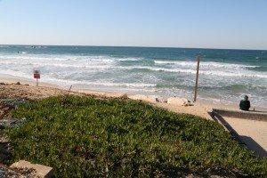 Walking along the beach from Tel Aviv to Jaffa